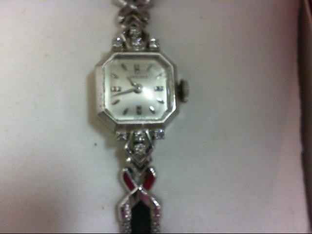 Longine 14KWG and Diamond Watch