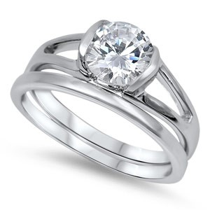 Lady's Silver Ring 925 Silver 5.2g Size:9