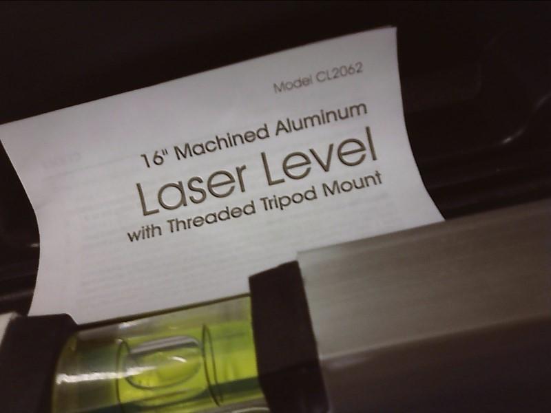 "16"" MACHINED ALUMINUM LASER LEVEL CL2062"