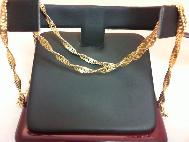 "20"" Gold Chain 21K Yellow Gold 8g"