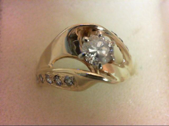 Lady's Diamond Wedding Band 11 Diamonds 0.8 Carat T.W. 14K Yellow Gold 5.4g Size