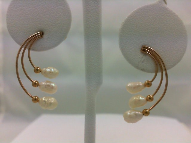 Gold Earrings 14K Yellow Gold 1.9g