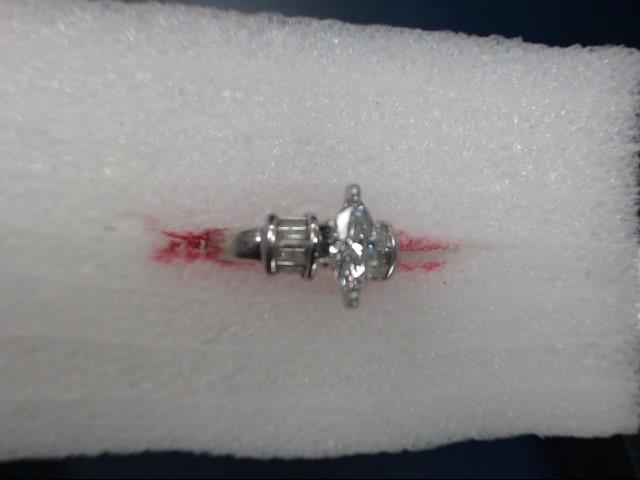 Lady's Platinum-Diamond Solitaire 2 Diamonds .81 Carat T.W. 950 Platinum