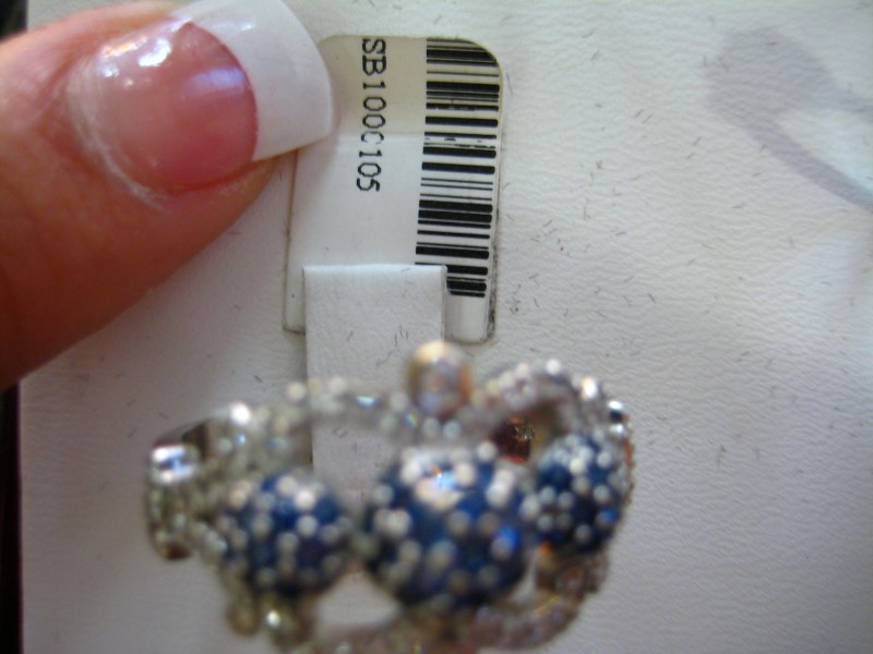 Synthetic Blue Stone Lady's Stone Ring 18K White Gold 7.7g