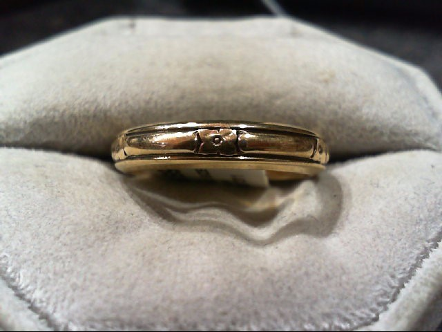 Gent's Gold Wedding Band 14K Yellow Gold 5g Size:8