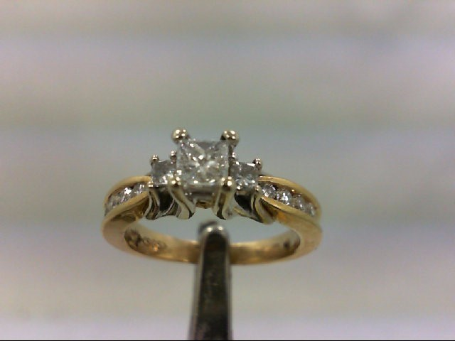 Lady's Diamond Engagement Ring 11 Diamonds .72 Carat T.W. 14K Yellow Gold 4.6g