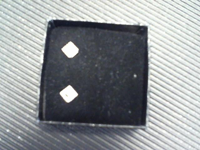 Bogh-Art Silver-Diamond Earrings 4 Diamonds .04 Carat T.W. 925 Silver 10.64g
