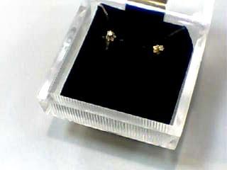 Gold-Diamond Earrings .02 CT. 14K Yellow Gold 0.1dwt