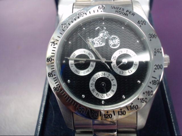 BRADFORD EXCHANGE Gent's Wristwatch LIVE FREE AND RIDE HARD