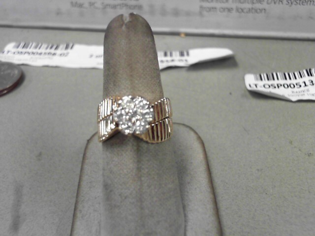 Lady's Diamond Wedding Set 7 Diamonds .42 Carat T.W. 14K Yellow Gold 6.4g
