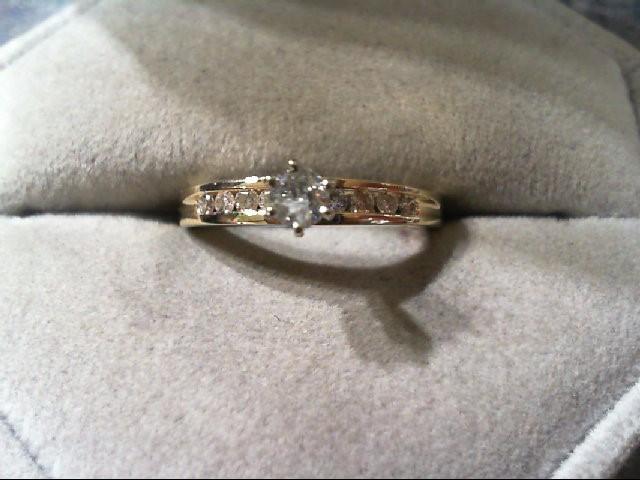 Lady's Diamond Engagement Ring 9 Diamonds .31 Carat T.W. 14K Yellow Gold 2.3g