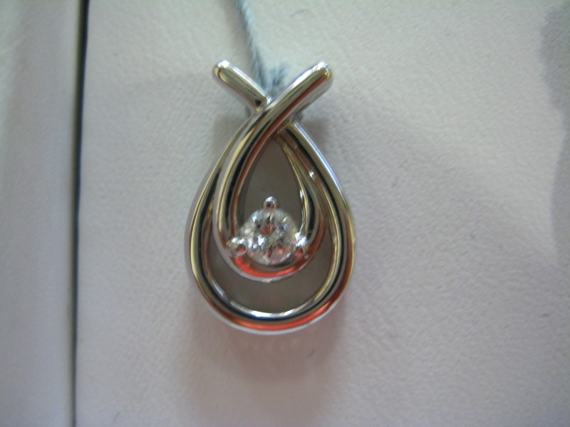 Gold Pendant 10K White Gold 1g