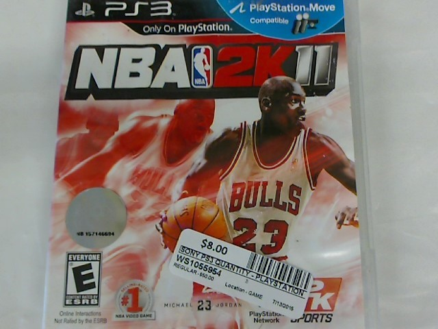 NBA 2K11-PS3 GAME