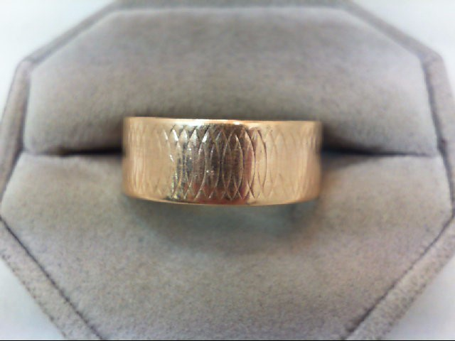 Gent's Gold Wedding Band 14K Yellow Gold 4.8g