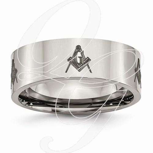 Gent's Ring Silver Titanium 4.7g