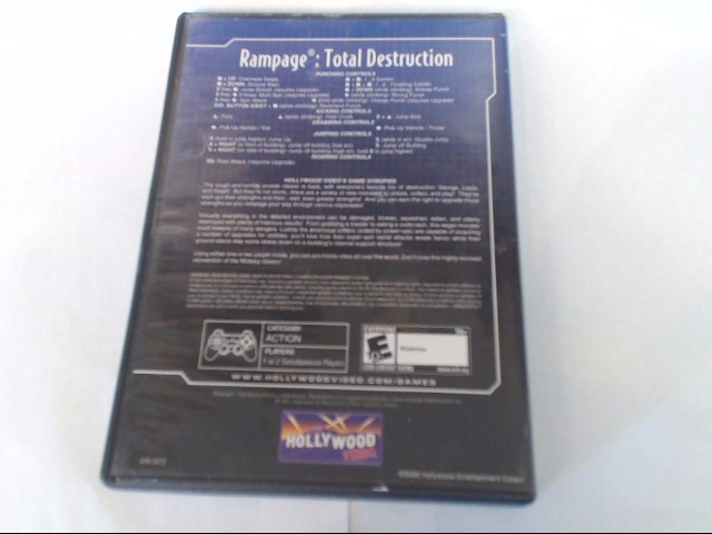 RAMPAGE TOTAL DESTRUCTION SONY PLAYSTATION 2