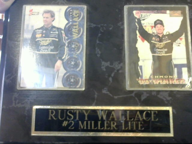 RUSTY WALLACE PLAQUE