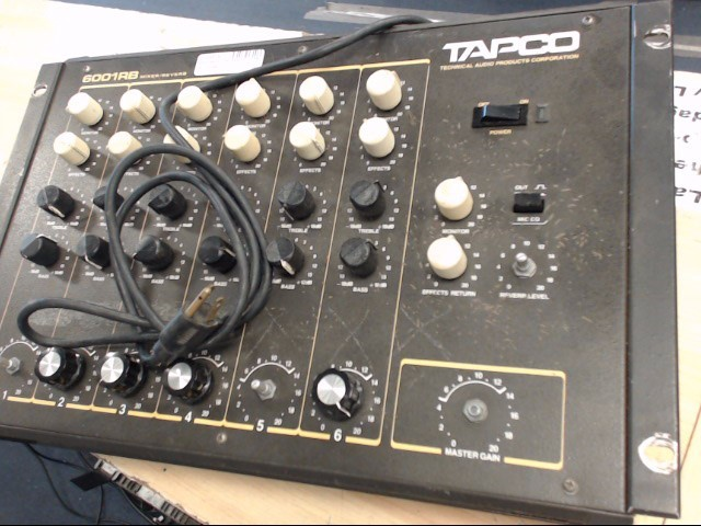 TAPCO PRODUCTS Karaoke Machine 6001RB