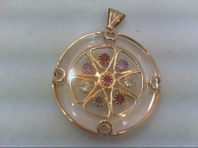 Gold Pendant 14K Yellow Gold 21.7g