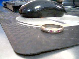 Gent's Gold-Diamond Wedding Band .05 CT. 14K White Gold 4.4g