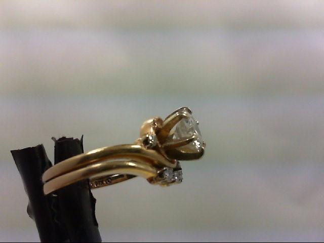 Lady's Diamond wedding set 9 Diamonds 1.25 Carat T.W. 14K Yellow Gold 5.29g