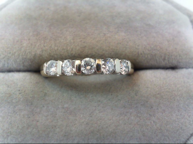 Lady's Diamond Wedding Band 5 Diamonds .50 Carat T.W. 14K Yellow Gold 3.2g