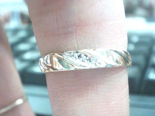 Lady's Diamond Wedding Band .005 CT. 10K Yellow Gold 1.1dwt