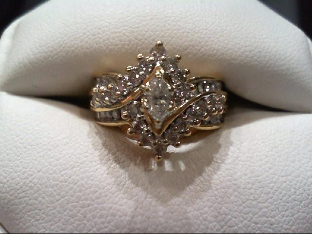Lady's Diamond Wedding Set 35 Diamonds 1.13 Carat T.W. 14K Yellow Gold 7g