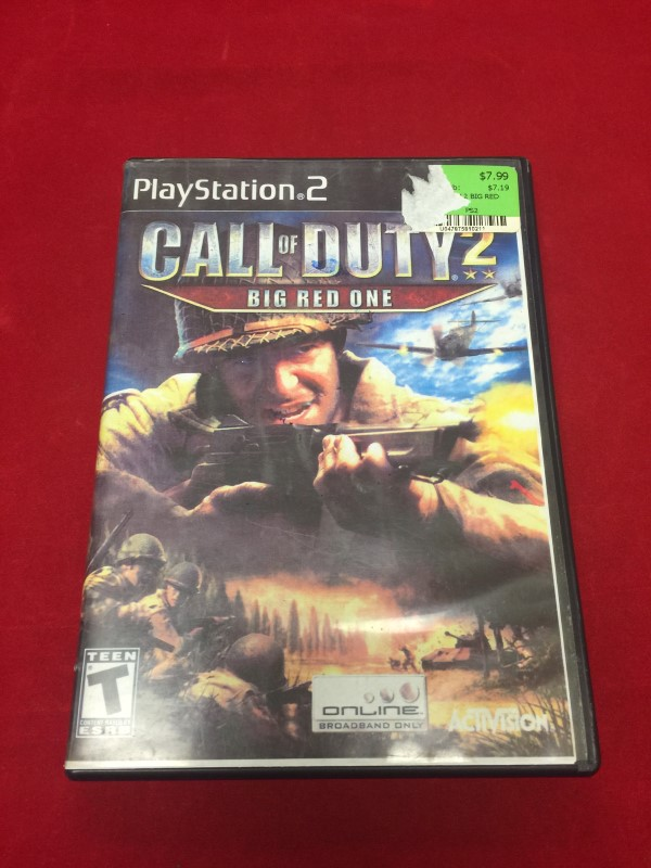 Sony Playstation 2 Call of Duity Big Red One