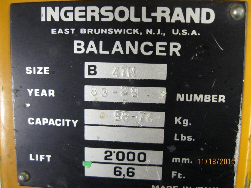 INGERSOLL RAND Miscellaneous Tool BALANCER 2000 LBS