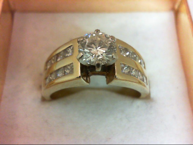 Lady's Diamond Wedding Band 17 Diamonds 1.55 Carat T.W. 14K Yellow Gold 6.36g