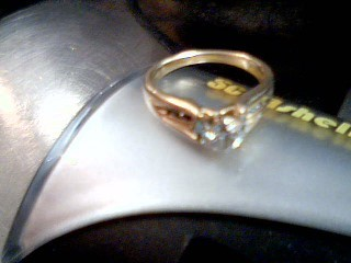 Lady's Diamond Solitaire Ring .35 CT. 14K Yellow Gold 4.1g