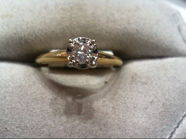 Lady's Diamond Engagement Ring .15 CT. 14K Yellow Gold 2.4g