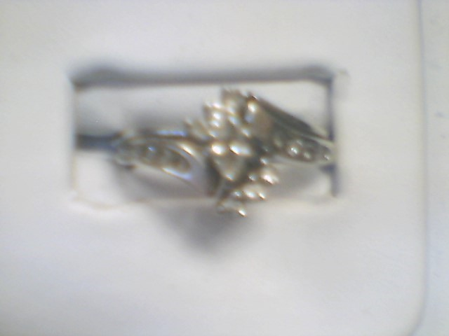 Lady's Diamond Solitaire Ring 11 Diamonds 1.00 Carat T.W. 14K White Gold 3.6g