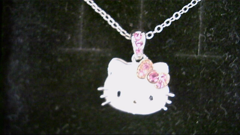 NEW SS HELLO KITTY EN. CRYSTAL NECKLACE 18``