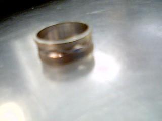 Gent's Gold Wedding Band 14K White Gold 4.6g Size:7