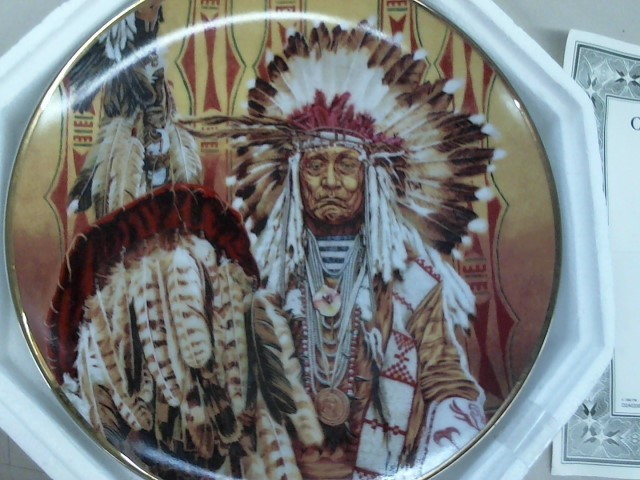 FRANKLIN MINT Plate Chief of the Piegon Blackfoot