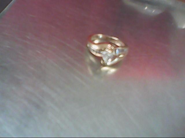 Lady's Diamond Engagement Ring 19 Diamonds 1.16 Carat T.W. 14K Yellow Gold 6.1g