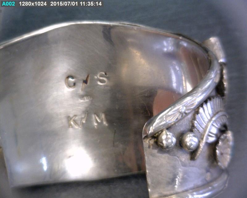 Turquoise Silver-Stone Bracelet 925 Silver 45.75dwt
