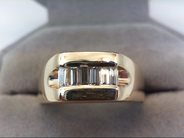 Gent's Gold-Diamond Wedding Band 6 Diamonds .48 Carat T.W. 14K Yellow Gold 7.5g