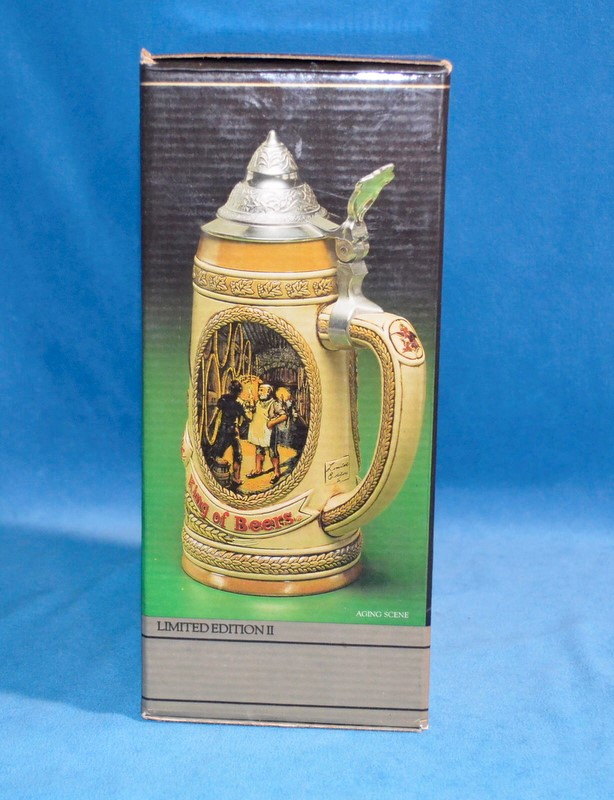 ANHEUSER-BUSCH BEER STEIN TOMORROW'S TREASURES LIMITED EDITION II AGING SCENE