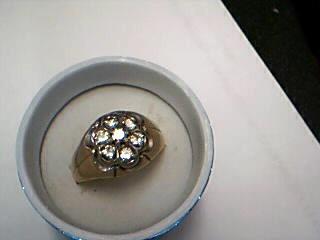Gent's Diamond Cluster Ring 7 Diamonds .70 Carat T.W. 10K Yellow Gold 2.7g