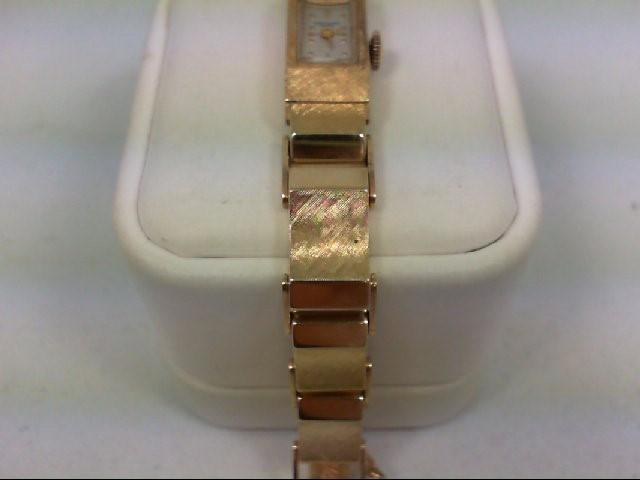 BAUME & MERCIER Lady's Wristwatch 17 JEWEL GENEVE 14K Yellow Gold 25.9g