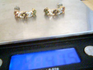 Gold Earrings Yellow Gold Electroplate 4.1g