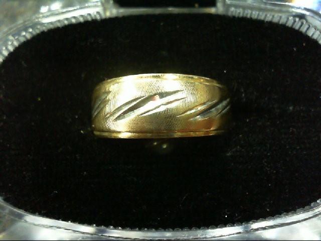 Lady's Gold Wedding Band 14K 2 Tone Gold 3.6g Size:7