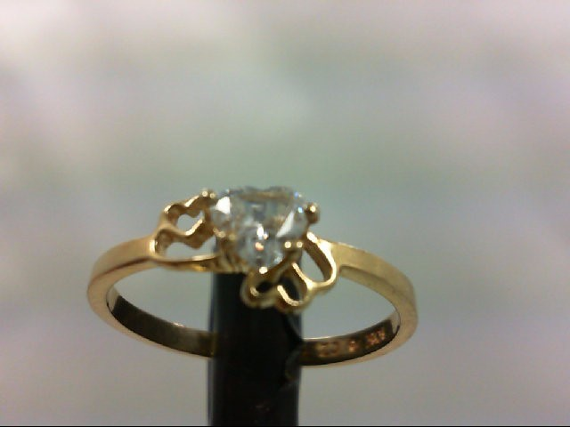 Lady's Gold Ring 10K Yellow Gold 1.3g Size:5.5