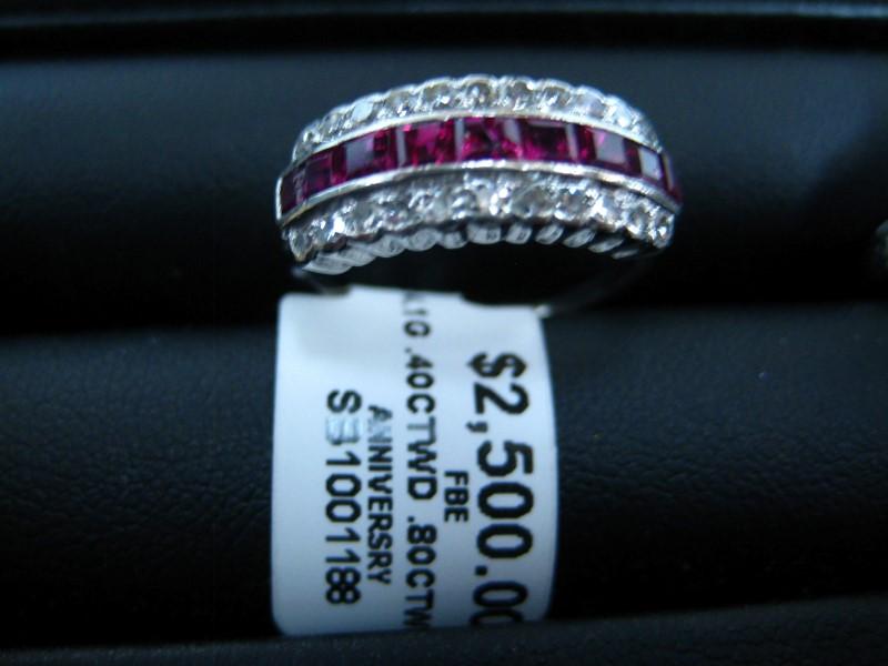 Lady's Platinum Ring 950 Platinum 4.1g