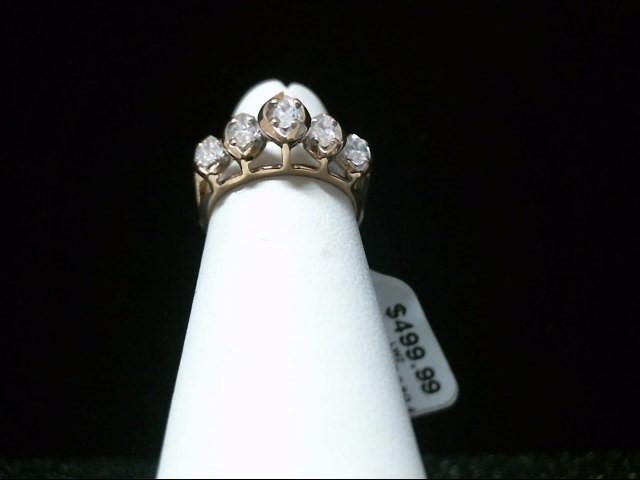 Lady's Gold-Diamond Anniversary Ring 5 Diamonds .50 Carat T.W. 10K Yellow Gold