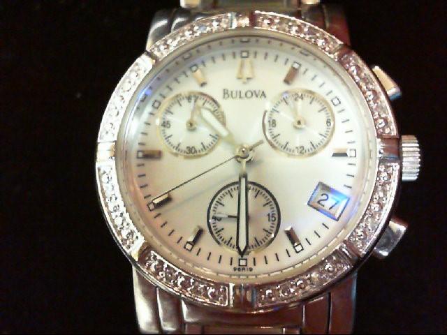 BULOVA Lady's Wristwatch 96R00 S/S DIA BEZEL
