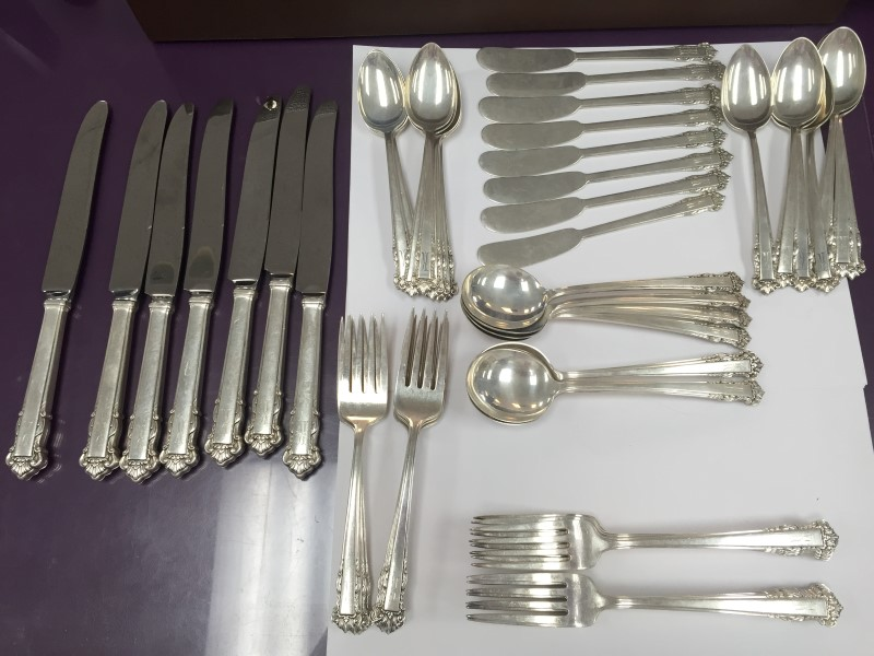 LUNT ENGLISH SHELL FLATWARE 925 Silver 1526.5g